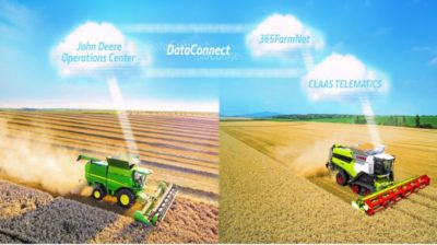 DataConnect – en ny era inom precisionslantbruk från CLAAS, 365FarmNet och John Deere