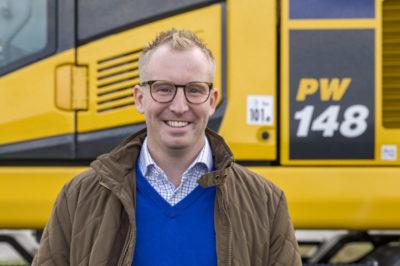Anton Svensson säljer Komatsu i Östra Skåne och Blekinge. (Foto: Åsa Gilbertsson)