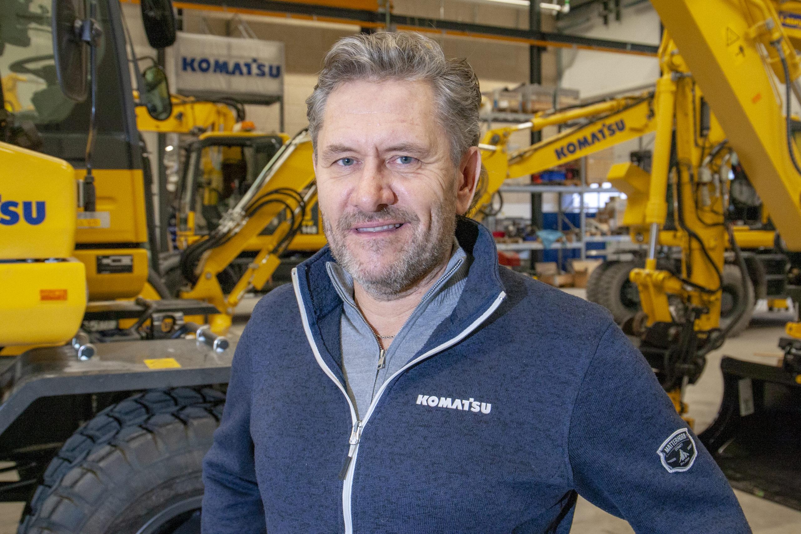 Patrick Andersson är ny säljare av Komatsu och Bomag i Stockholm och Mälardalen.