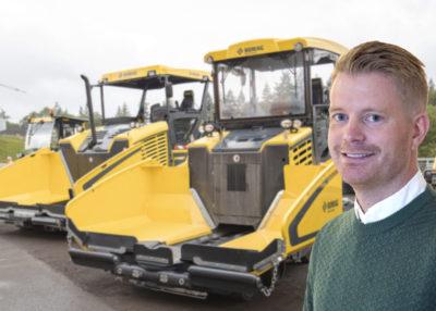 Tobias Rostedt, produktchef för Bomags produkter i Sverige.