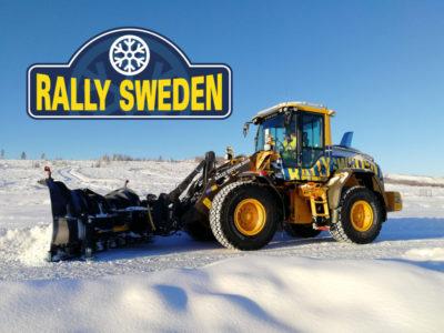 Volvo hjullastare L60H under Rally Sweden 2019.