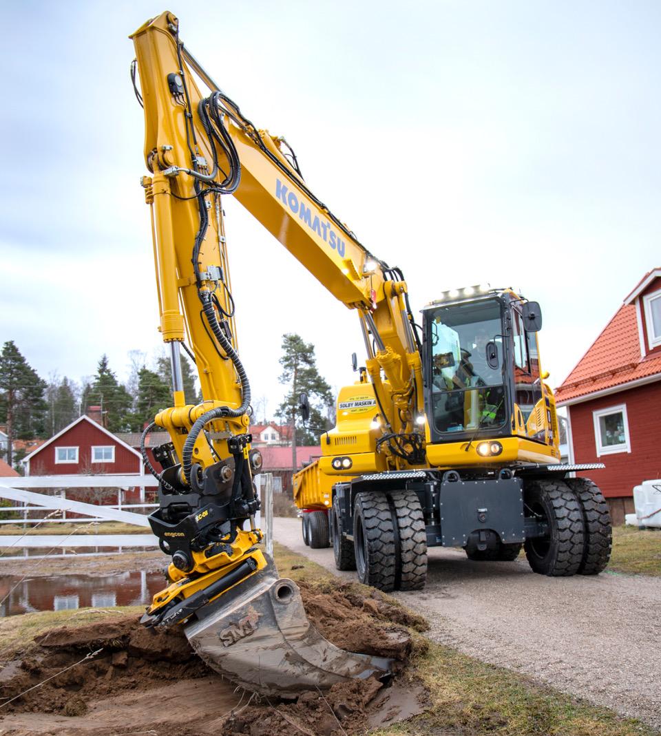 Solby Maskins maskiner underhåller och bygger ut va-systemen i Gagnef, Leksand och Rättvik.
