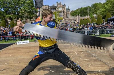 Emil Hansson är andre svensk någonsin, efter Ferry Svan, att få ett wildcard till World Trophy. Foto: STIHL TIMBERSPORTS®