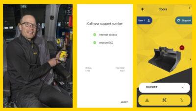 Tomas Wall, engcon, DC2 new app