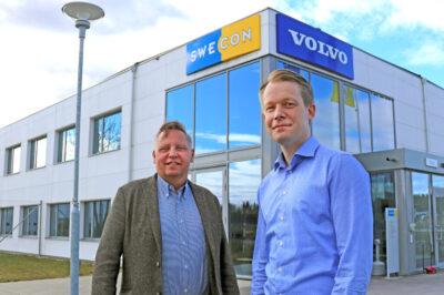 Christer Söderberg ny Director of Marketing & Business Strategy och hans ersättare som vd för Swecon Joakim Arndorw.