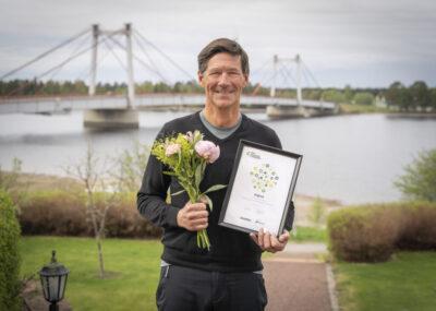 Stig Engström, Engcons grundare och ägare, mottar utmärkelsen Sweden's Best Managed Companies.