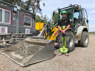 Simon Sabel, anläggningsarbetare och skyddsombud på JM Entreprenad